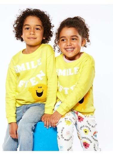 Marks & Spencer Mr Happy™ Baskılı Sweatshirt Sarı